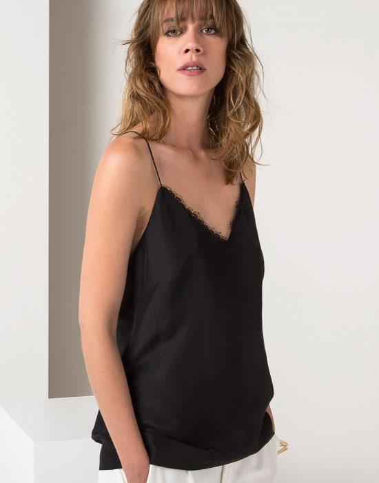 Look 2 - Silk Top | Crepe pants